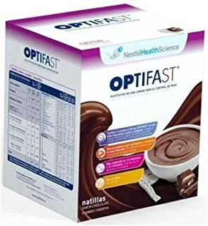 OPTIFAST Natilla Chocolate - Sustitutivo de comida, 9 sobres