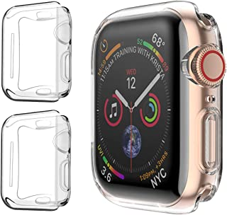 PEYOU [2 Pack] Compatible for iWatch Series 4 40mm Screen Protector, [Upgraded] All Around Protective Soft TPU HD Clear Cover Ultra-Thin Case Compatible for Apple Watch iWatch Series 4 40mm