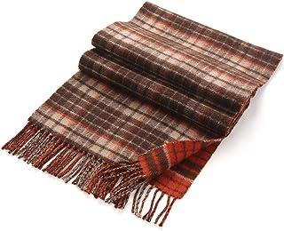 Lusm Men's Cashmere Scarf Luxurious Plaid Winter Warm Soft Lightweight Scarves for Men