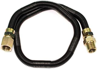 Dreffco 1/2 Inch x 24 Inch Non-Whistle Flexible Flex Gas Line for NG or LP