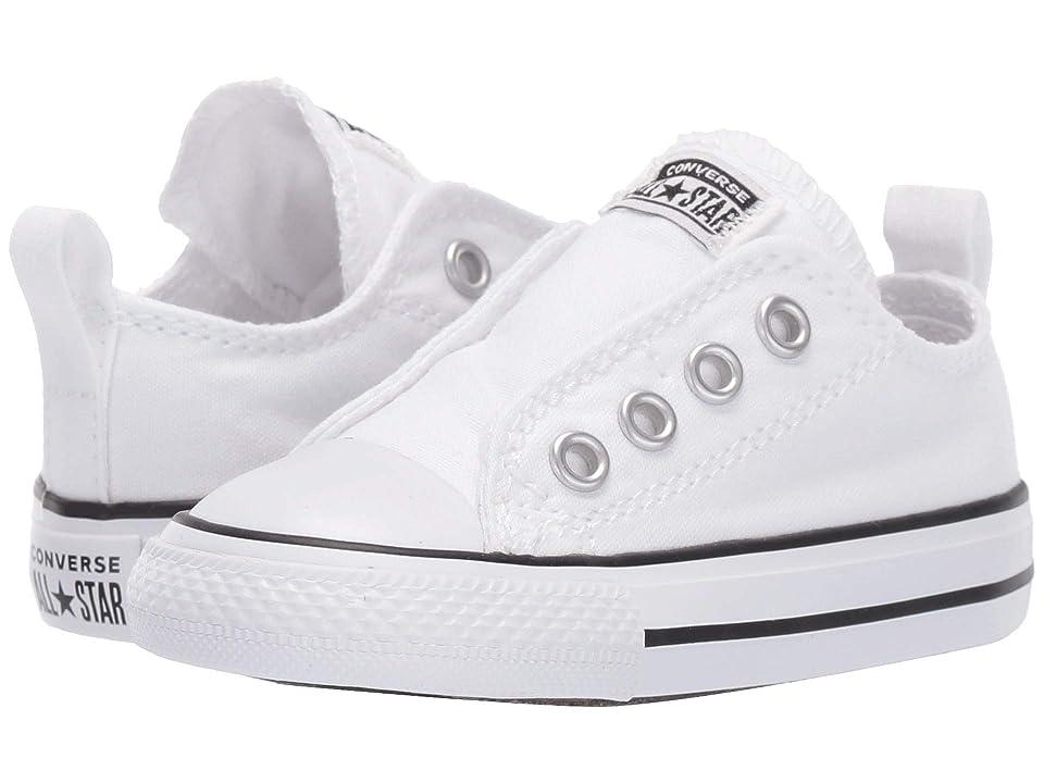 Converse Kids Chuck Taylor(r) All Star(r) Core Slip (Infant/Toddler) (White/Black/White) Kids Shoes