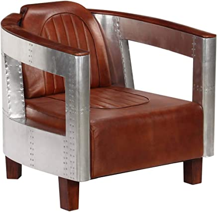 Amazon.es: Piel - Sillones y chaises longues / Sillas: Hogar ...