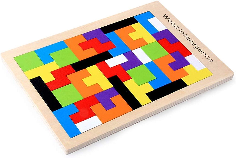 RFJJAL Kinder Holz Tetris Bausteine Puzzles Spielzeug Früherziehung Pdagogische Geometrische Spielzeug Für Kinder Kinder Geschenke