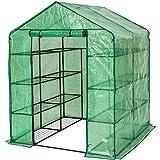 tectake Serre de Jardin PE Plastique Tente abri - diverses modèles - (143x143x195cm...