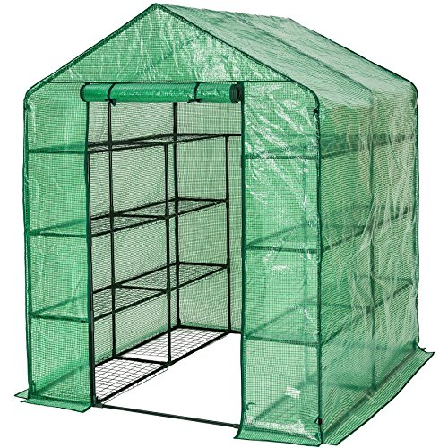 TecTake Invernadero de jardín vivero casero Plantas Cultivos - Varios Modelos - (143x143x195cm | No. 401860)