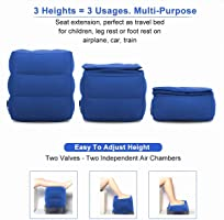 Inflatable Travel Foot Rest Pillow Air Plane Office Car Leg Up ...