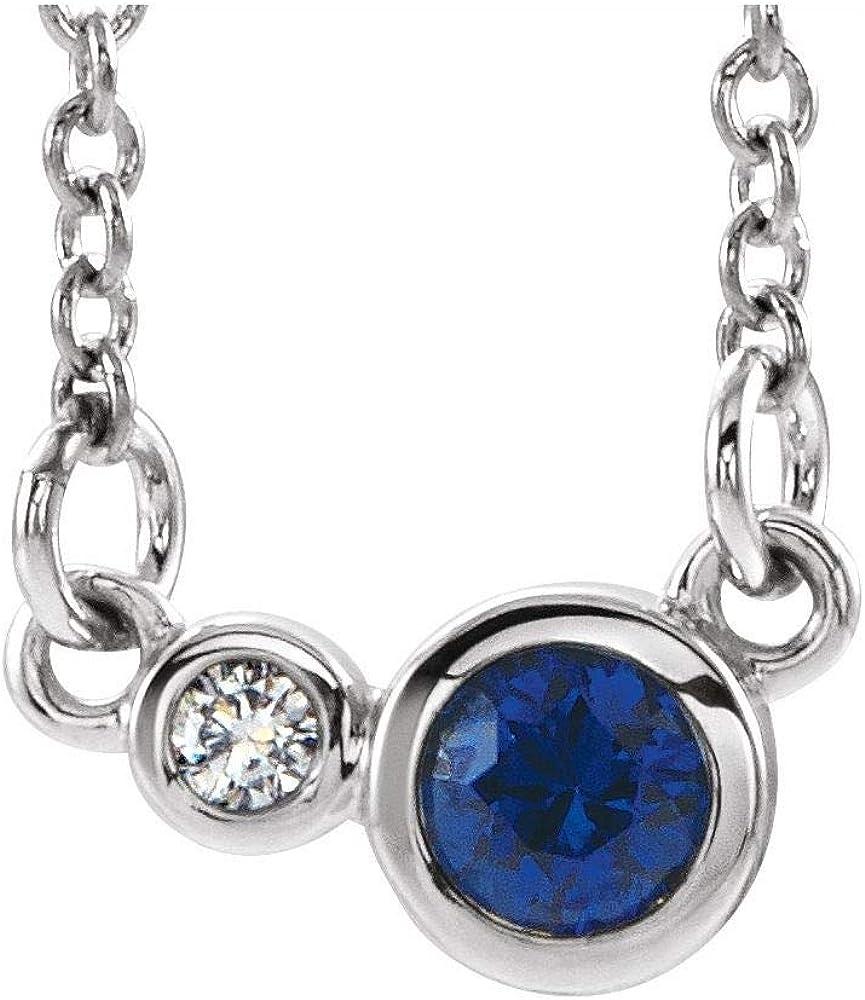 Two Stone Bezel Set Gemstone and Diamond Charm Pendant