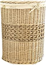 YAYADU Storage Basket Round Rattan Baskets Finishing Box Store Toy Pillow Clothes Sundries For Home Hotel Restaurant (Colo...