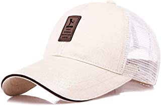Lei Zhang New Korean Men's hat Baseball Cap Spring Autumn Sun hat Sun hat Outdoor Sports Cap (Color : Beige (Network), Size : Adjustable)