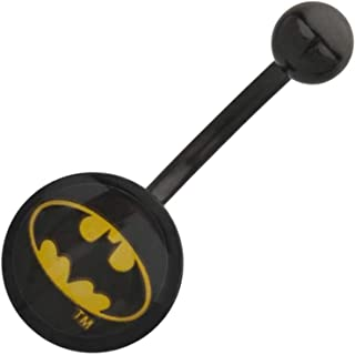 DC Comics Officially Licensed Batman Logo Navel / Belly Ring, 316L Surgical Stainless Steel