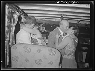 Historic Photos Detroit, Michigan. A Venetian Night Party at The Detroit Yacht Club, Whose Members Represent The wealthier Class of Manufacturers and Their Friends. Couple Kissing in a Boat