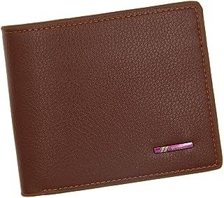 BeniNew men's wallet short large capacity wallet-light brown