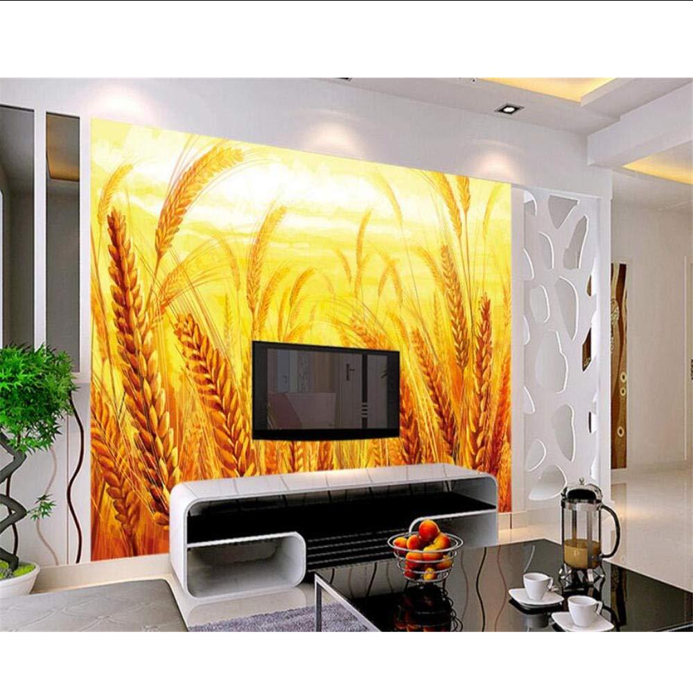 Alta calidad personalizada campo de trigo cebada oro dormitorio dormitorio TV telón de fondo pared moderno hogar decoración papel pintado MRQXDP: Amazon.es: Bricolaje y herramientas
