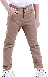 Pantalon chino décontracté à taille réglable pour