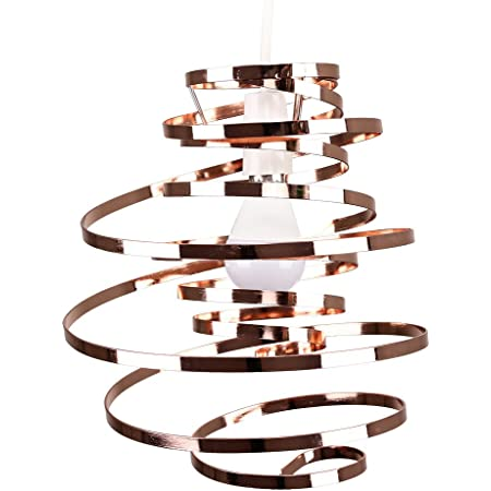 MiniSun Lustre Suspension Cuivre Spirale