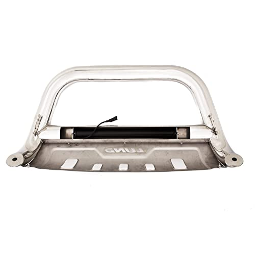 Lund 47021215 Bull Bar with Integrated LED Light Bar Polished Stainless Steel for 2017-2019 Ford F-250 F-350 F-450 F-550