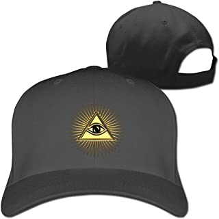 Pyramid All-Seeing Eye Pure Color Baseball Cap Dad Trucker Hat Men Women Black