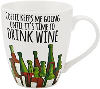 Pfaltzgraff 18oz Mug Collection (Coffee Keeps Me Going Until It's Time To Drink Wine)