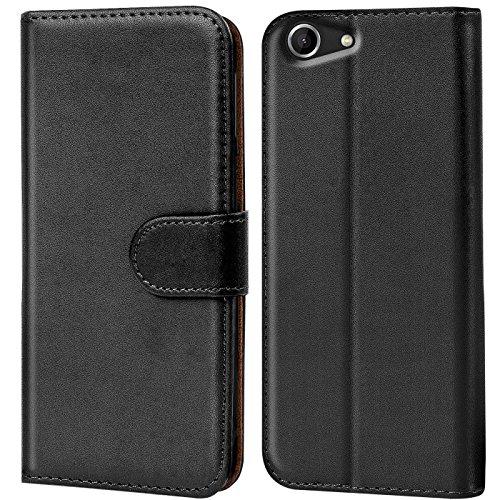 CoolGadget Handyhülle für Wiko Pulp Fab 4G Hülle, Book Case Premium PU Leder Flip Cover Schutzhülle für Wiko Pulp Fab 4G Tasche, Schwarz