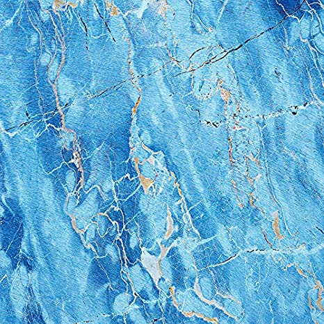 RBQOKJ 10x10ft Blue Marble Backdrop Natural Stones Texture Photo Background Abstract Marble Pattern Photography Backdrops for Shoot Studio Prop