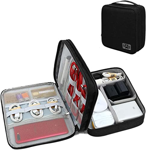 Seagull flight of fashion 3 Layer Gadget Organizer Case, Electronic Accessories Organizer Bag for Cables, Charger, Ha...