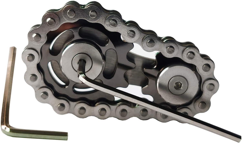 Sprocket Sales for sale Fidgets Chain Stainless shopping Steel Cube Gears Linkage Fidget