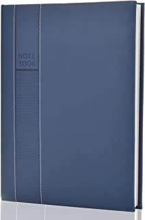 Large Notebooks and Journals Classic Hardcover Notebook 8 x 11 inch 128 Sheets (256 Pages) Leather Notebook Journals to Write in for Women Men OZCHIN (Blue)