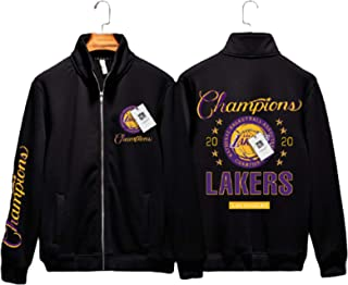 Lakers Championship Zipper Sweater Jacket for Men,Lakers Commemorative Edition Men's Youth Fan Basketball Sweatshirt,Class...