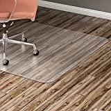 Lorell Nonstudded Design Hardwood Surface 48 x 36-Inch Vinyl Chair Mat, Clear