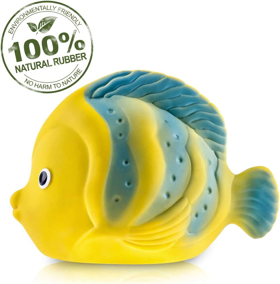 Pure Natural Rubber Baby Cheap mail order specialty store Bath Toy Fish the Max 41% OFF La Butterfly With -