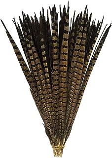 Vejaoo Plumas de Cola de faisán Naturales 100pcs 35-40cm decoración ara Boda, Fiestas de cumpleaños