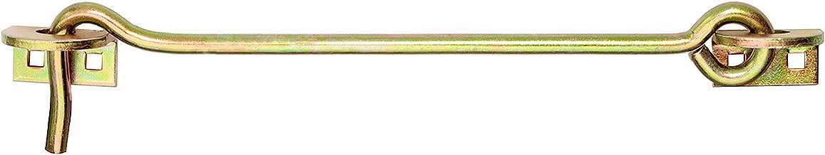 Sturmhaken Fensterhaken mit /Öse gelb verzinkt T/ürhaken Haken W132 150 mm