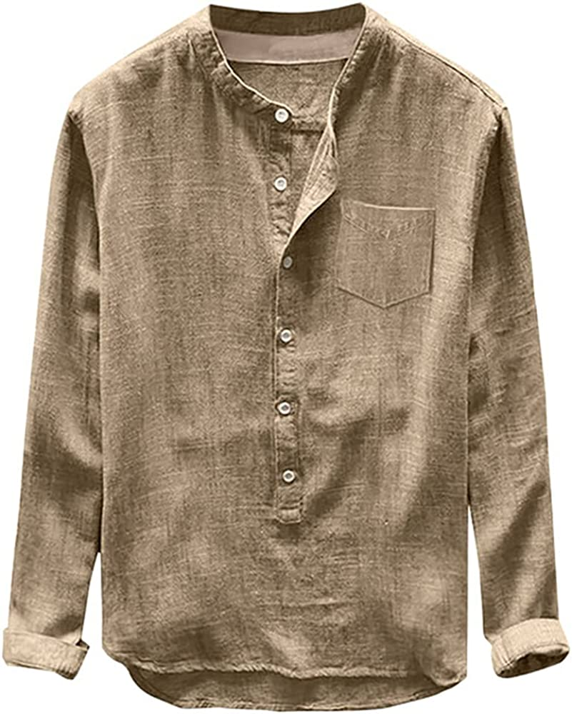 Rare N\P Mens Blouse Long Branded goods Sleeve Baggy Cas Summer Comfortable Buttons