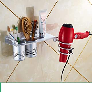 CHUTD Support de sèche-Cheveux, Etagère pour sèche-Cheveux, Support de sèche-Cheveux, Séchoir pour Cheveux, Support de Ran...