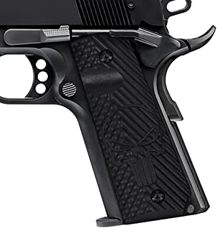Cool Hand 1911 Full Size G10 Grips, Screws Included, Ambi Safety Cut, OPS w/Punisher Skull Texture