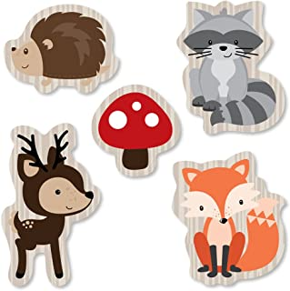Big Dot of Happiness Woodland Creatures - DIY Shaped Baby Shower or Birthday Party Cut-Outs - 24 Count