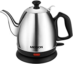 Electric Kettle, Pour Over Coffee Kettle & Tea Kettle 100% Food Grade Stainless Steel Interior Water Boiler, Coffee Pot, A...