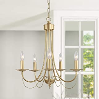 Gold Dining Room Chandelier, 5 Lights Modern Gold Light...