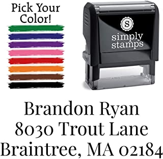 Custom Address Stamp - Self Inking - Return Address Stamp - 3 Line Address Stamp - Upload Your Text! (Playfair)