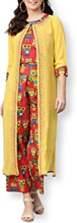 Pannkh - Giacca da donna con stampa e pantaloni