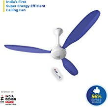 Superfan Super X1 Blue 1200 mm 5 Star Rated Ceiling Fan with Remote Control and BLDC Motor