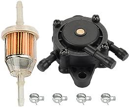 HIPA Fuel Pump + Fuel Filter for John Deere Z225 Z235 Z245 Z255 Z335E Z335M Z345M Z345R Z355R Z375R Z425 Z435 Z445 Z465 Lawn Mower