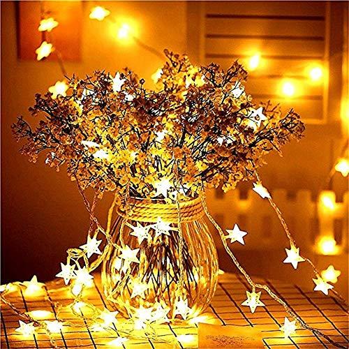Año nuevo 3M 6M 10M LED estrella cadena de luz guirnalda de cuento de hadas impermeable Navidad decoración de la boda batería / fuente de alimentación usb batería 2m10 leds