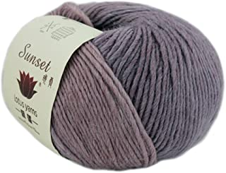 Lotus Yarns Multicolor Merino Wool DK Weight Yarn 5X50g Hanks for Hand Knitting and Crocheting (250-Mauve Rose)