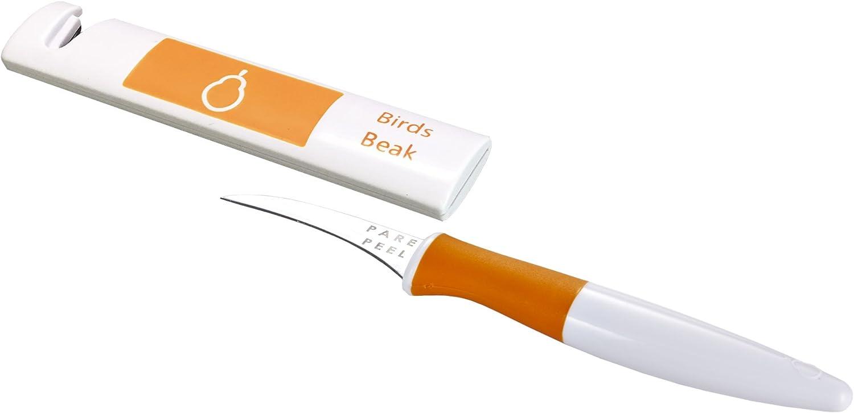 Denver Mall Crisp Ranking TOP11 Bird's Beak Paring Orange Knife White