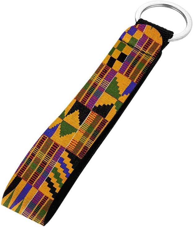 BIGCARJOB Keychain Accessories Cactus Print Wristlet Lanyards Strap Polyester Wristlet Keychain Wrist Lanyard Keychain Holder for Women Girls