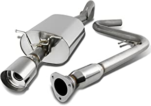 For Chevy Cobalt Stainless Steel 4 inches Muffler Tip Catback Exhaust System w/Removable Silencer