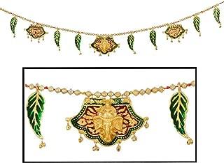 Amba Handicraft Door Hanging Toran Window Valance Dream Catcher Home Décor Interior Pooja bandanwaar Diwali Gift Festival Colorful Indian Handicraft Love.TORAN84