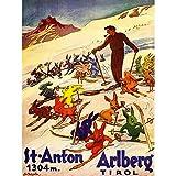 Wee Blue Coo Travel Winter Sport Tyrol Ski Snow Rabbit