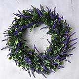 Ukallaite - Fleur Artificielle Tendance pour Bouquets et décorations d'intérieur - Couronne de Lavande Artificielle à Suspendre sur Une Porte - Accessoire de Photographie, A1, Oversize